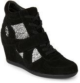 Ash Black & Silver Bowie Wedge Sneakers