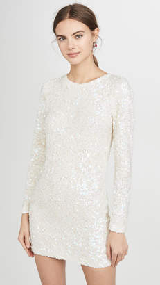 Ashish Sequin Long Sleeve Dress