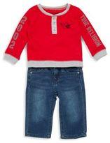 True Religion Baby's Singing Buddha Shirt & Pant Set