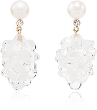 Sophie Bille Brahe 14kt yellow gold Grappolo diamond drop earrings