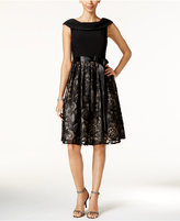 Jessica Howard Soutache Belted Fit & Flare Dress
