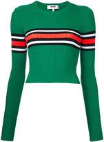 MSGM striped knit top - women - Cotton/Polyamide/Spandex/Elastane - M