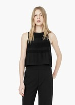 Mango Outlet Pleated Trim Top