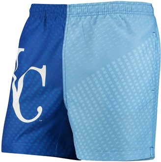 Men's Royal/Light Blue Kansas City Royals Color Block Swim Trunks