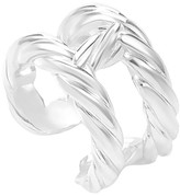 Hermes Textured Silver Ring