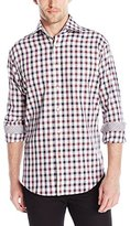 Thomas Dean Men's 2 Btn SPRD Check