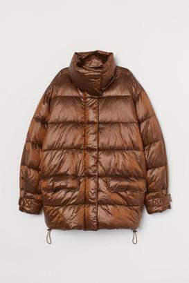 H&M Metallic puffer jacket