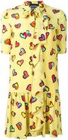 Moschino heart print dress - women - Silk/Polyester - 36