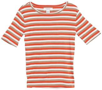 Workshop For The Republic Elbow Sleeve Stripe Print T-Shirt