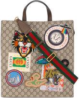 Gucci GG Supreme applique tote bag