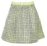 Monocrom Women's Green Polyester Skirt.