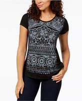 Style&Co. Style & Co Petite Graphic T-Shirt, Created for Macy's