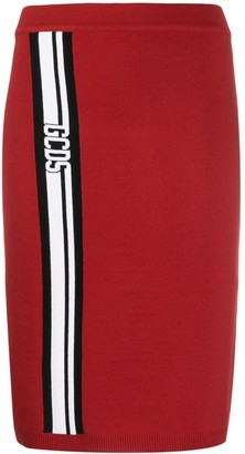 GCDS logo stripe skirt