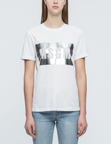 MSGM Metallic Panel Logo T-Shirt