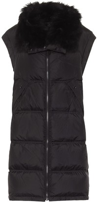 Yves Salomon Shearling-trimmed down puffer vest