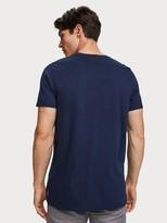 Scotch & Soda Blauw Artwork T-Shirt
