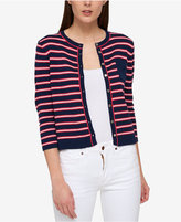 Tommy Hilfiger Striped Boxy Cardigan, Only at Macy's