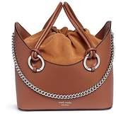 Meli-Melo 'Ornella' inverted handle leather tote