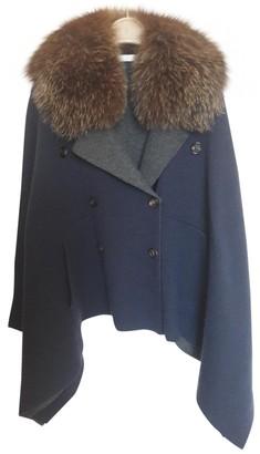 Brunello Cucinelli Blue Cashmere Coat for Women