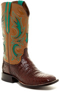 Lucchese Genuine Caiman Belly Inlay Boot- Wide Width Available