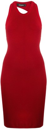 DSQUARED2 Fitted Knit Midi Dress