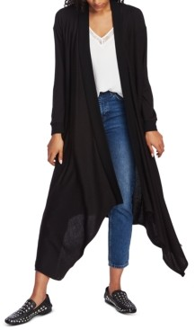 1 STATE Open-Front Maxi Cardigan Sweater