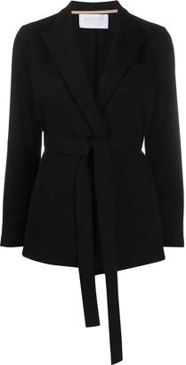 Harris Wharf London Textured Belted Blazer Jacket