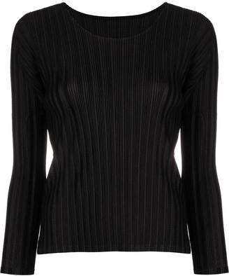 Pleats Please Issey Miyake Asymmetrical Pleated Skirt