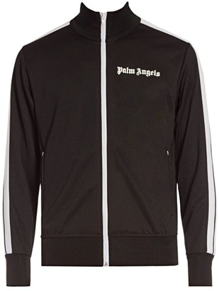 Palm Angels Hooded Side-Stripe Track Jacket