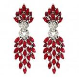 Ruby Cascading Crystal Earrings