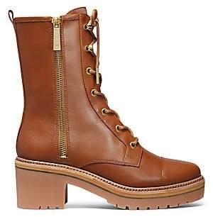 MICHAEL Michael Kors Women's Anaka Leather Combat Boots