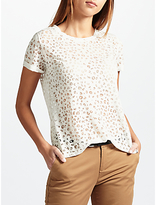 Maison Scotch Burnout T-Shirt, Off White