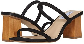 Steve Madden Honey Heeled Sandal (Black) Women's Shoes