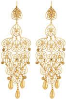 Jose & Maria Barrera 24k Gold-Plated Long Filigree Earrings
