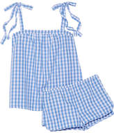 Three J NYC Sadie Gingham Cotton-poplin Pajama Set - Blue