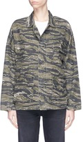 Current/Elliott 'The Fatigue' slogan embroidered camouflage print jacket