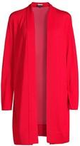 Lafayette 148 New York Wool & Silk Tie-Neck Cardigan