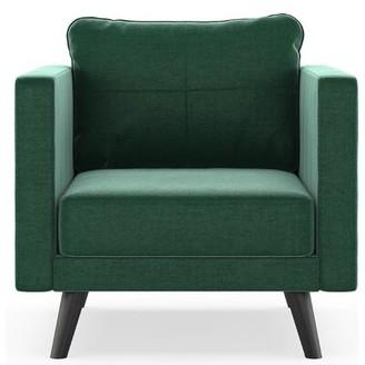Coutu Armchair Corrigan Studio Upholstery Color: Blue Topaz