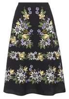 Erdem Tiana floral-printed midi skirt