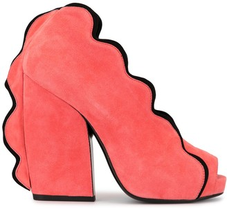 Pierre Hardy Sottsass peep toe pumps