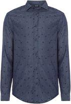 Armani Jeans Men's Regular fit eagle print long sleeve shirt