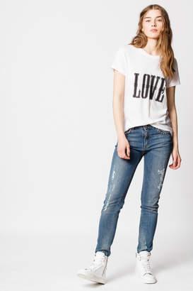 Zadig & Voltaire Walk Chine Overdyed Love T-shirt