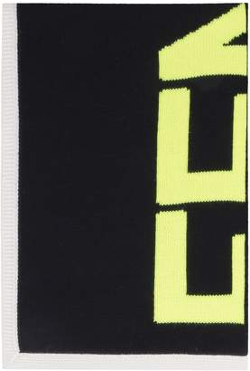 Fendi Wool Scarf With All-over Logo