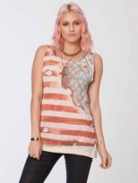 Chaser American Flag Deconstructed Muscle Tank