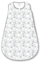 Swaddle Designs Cotton Sleeping Sack - Starshine Shimmer - Sterling Gray
