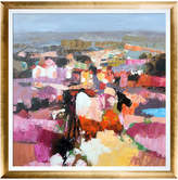 Overstock Art Maisons Blanches By Alex Bertaina Oil Reproduction