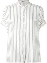 Brunello Cucinelli ruffled-hemmed shirt - women - Silk/Brass - XS
