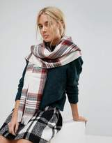 Pieces Jalle Heritage Check Long Scarf