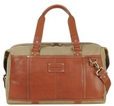 Tommy Bahama Men's Canvas & Leather Duffel Bag - Brown