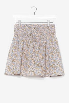 Nasty Gal Womens Summer Lovin' Floral Mini Skirt - White - 14